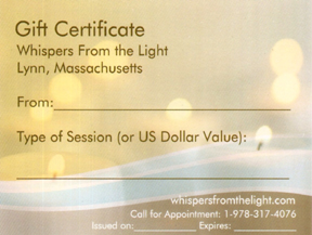 Whispers From the Light Gift Certificate