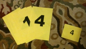 4 yellow paper